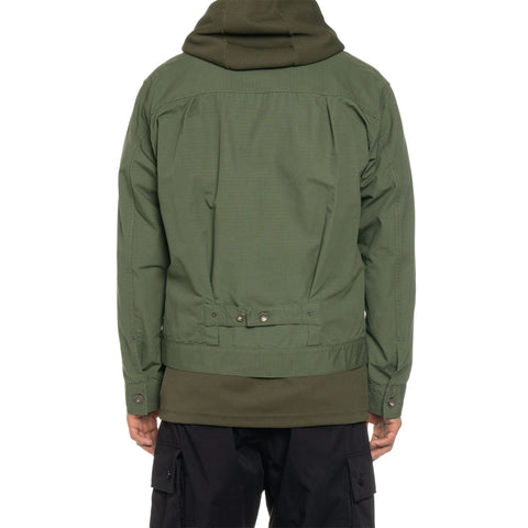 Engineered Garments Cotton Ripstop Trucker Jacket Olive, Outerwear