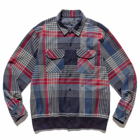 Engineered Garments Cotton Twill Plaid Classic Shirt Navy/Gray/Red, Shirts