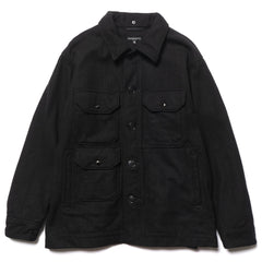 Engineered Garments Cruiser Jacket Wool Melton Black