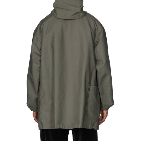 Engineered Garments Double Cloth Cotton Madison Parka Olive, Jackets