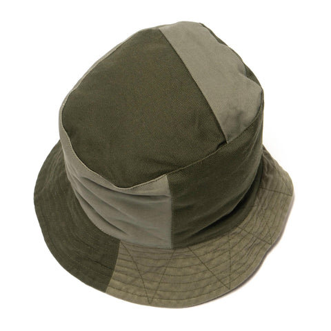 Engineered Garments Heavy Twill Cotton Bucket Hat Olive, Headwear