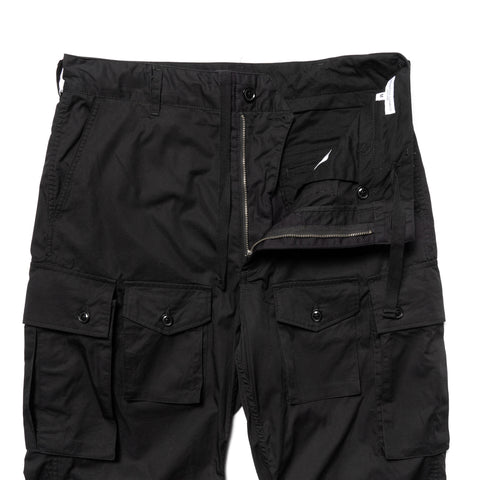 Engineered Garments High Count Twill FA Pant Black, Bottoms