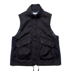 Engineered Garments High Count Twill Field Vest Dk. Navy, Vests