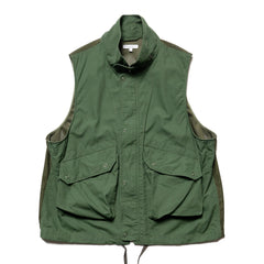 Engineered Garments Cotton Ripstop Field Vest Olive, Vests