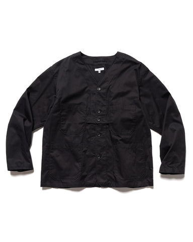 Engineered Garments Highcount Twill Cardigan Jacket Black, Outerwear