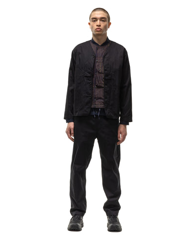 Engineered Garments Highcount Twill Drawstring Pant Black, Bottoms