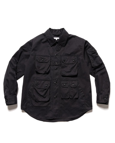 Engineered Garments Highcount Twill Explorer Shirt Jacket Black, Outerwear