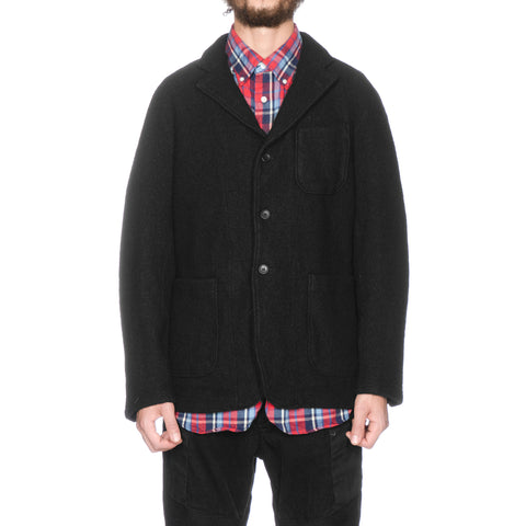 Engineered Garments Knit Jacket Boiled Wool Black