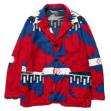 Knit Jacket Red/Royal Blue