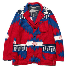 Engineered Garments Knit Jacket Red/Royal Blue