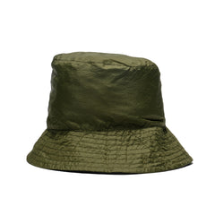 Engineered Garments Nylon Micro Ripstop Bucket Hat Olive, Headwear