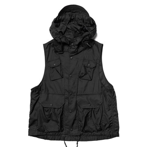 Engineered Garments Nylon Micro Ripstop Field Vest Black, Outerwear
