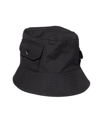 Engineered Garments PC Poplin Explorer Hat Black, Headwear