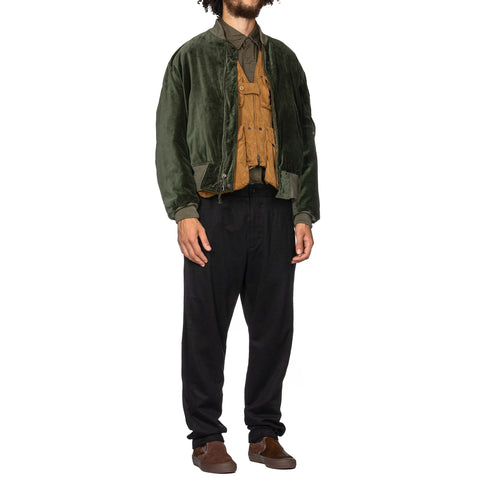 Engineered Garments Wool Cotton Flannel Doug Pant Black, Bottoms