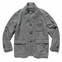 Engineered Garments Wool Poly Gunclub Check Loiter Jacket Gray, Outerwear