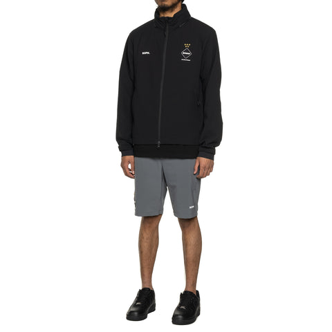 F.C.R.B. Stretch Light Weight Hooded Blouson Black, Outerwear