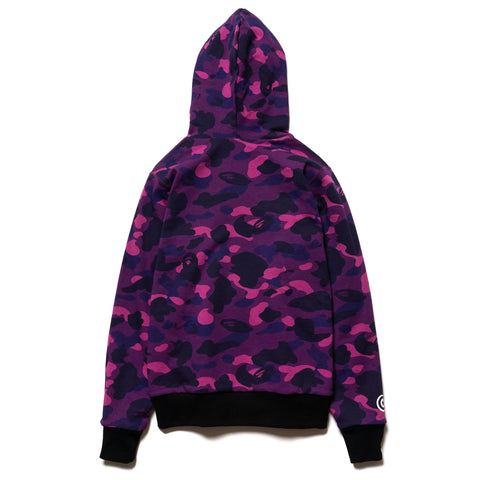 A BATHING APE Color Camo Reversible Shark Full Zip Hoodie Purple, Sweaters