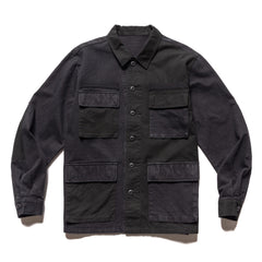 Uniform Experiment Fabric Mix Fatigue Shirt Black, Shirts