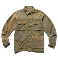Uniform Experiment Fabric Mix Fatigue Shirt Khaki, Shirts