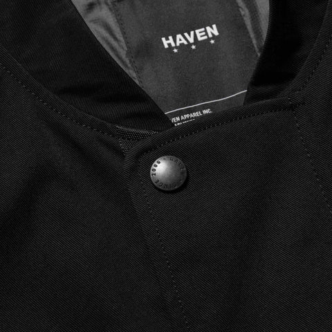 HAVEN Flak Bomber – Nylon Twill Black, Outerwear