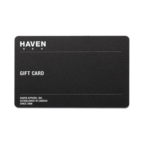 HAVEN Gift Card Gift Card, Physical Gift Card