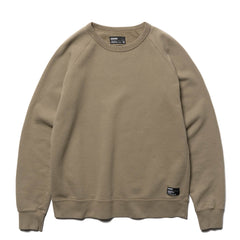 HAVEN Garment Dye Crewneck - Midweight Cotton Fleece Bark, Sweaters