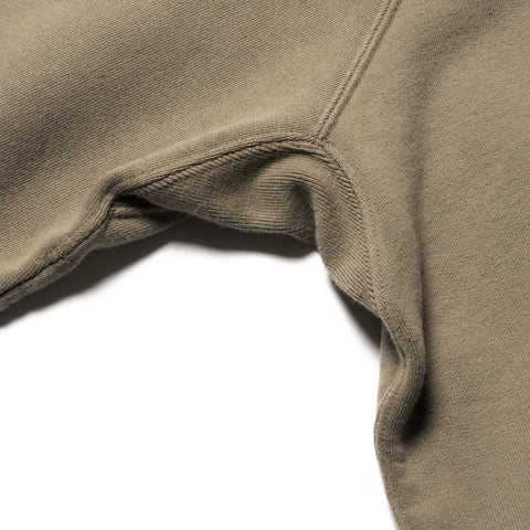 HAVEN Garment Dyed Crewneck - Midweight Cotton Fleece Bark, Sweaters