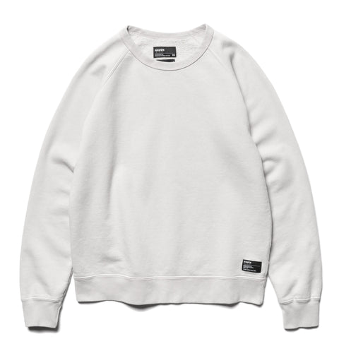 HAVEN Garment Dye Crewneck - Midweight Cotton Fleece Pewter, Sweaters