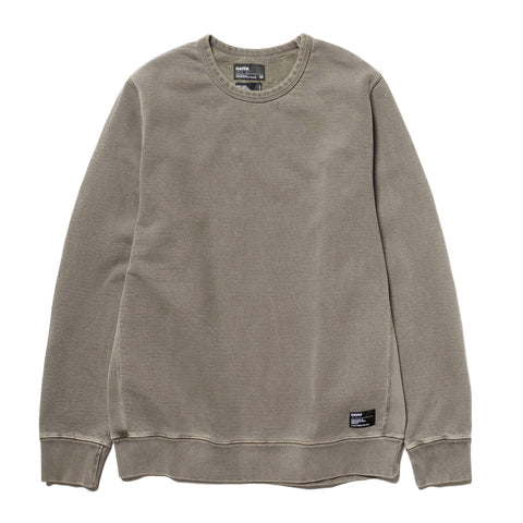 HAVEN Heavy Weight Crew Neck - Garment Dyed Fleece Olive, Sweaters