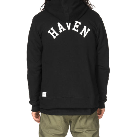 HAVEN Gothic H French Terry Full Zip Hoodie Black