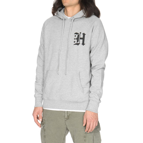 haven Gothic H French Terry Pullover Hoodie Gray