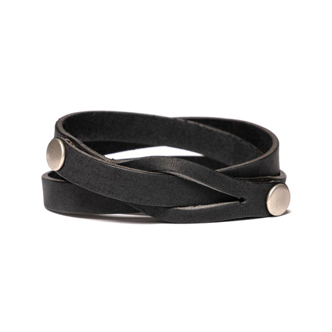 hobo Oiled Cow Leather Bracelet Black, Accessories