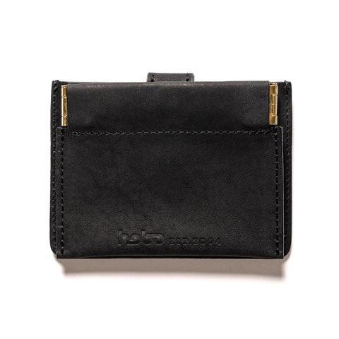 hobo Oiled Cow Leather Double Snap Wallet Black, Accessories