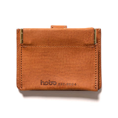 hobo Oiled Cow Leather Double Snap Wallet Brown, Accessories