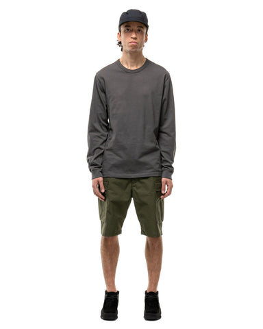 HAVEN L/S T-Shirt - Garment Dyed Jersey Slate, T-Shirts