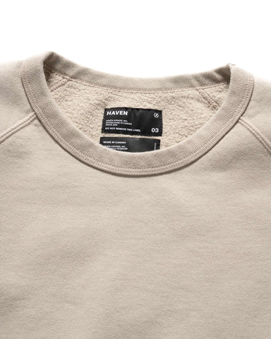 HAVEN Midweight Crewneck - Garment Dyed Fleece Sand, Sweaters