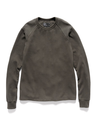 HAVEN Base Thermal - Cotton Waffle Thermal Olive, Knits