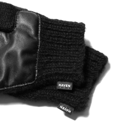 HAVEN Hand Knit Shooter Gloves - Cashmere Black, Accessories