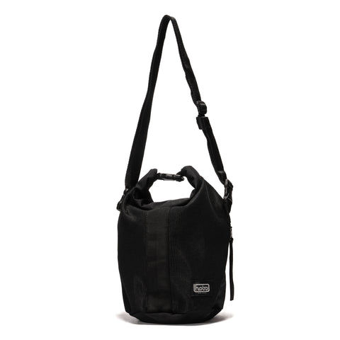 Hobo Polyester Canvas Roll Top Bag Black, Bags