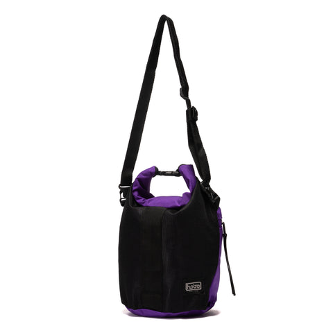 Hobo Polyester Canvas Roll Top Bag Purple, Accessories