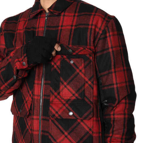 HAVEN Hudson Overshirt - PrimaLoft® Wool Flannel Red, Shirts