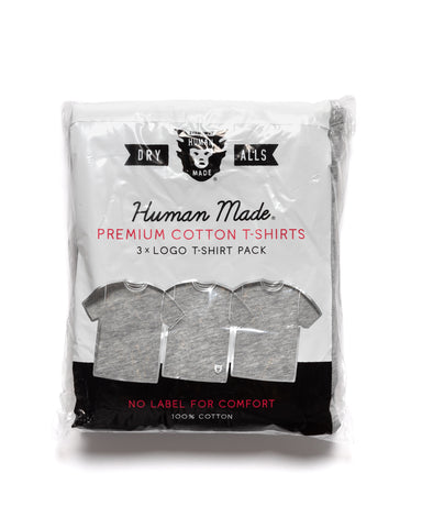 Human Made 3 Pack T-Shirt Gray, T-Shirts