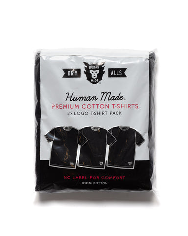 Human Made 3 Pack T-Shirt Black, T-Shirts