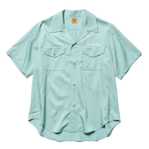 Human Made Bowling Shirt Green, Tops