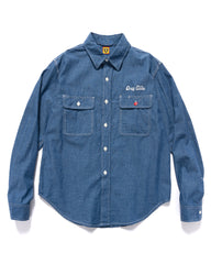 Human Made Chambray L/S Shirt Indigo, Shirts