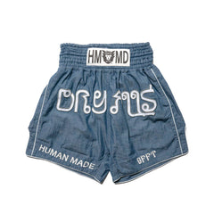 Human Made Chambray Muay Thai Shorts Blue, Shorts