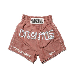 Human Made Chambray Muay Thai Shorts Red, Shorts