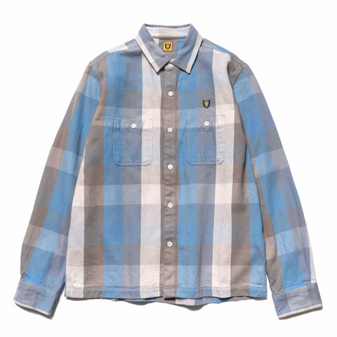human made Check Shirt Blue