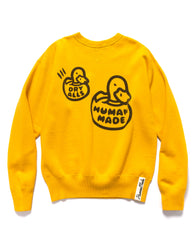 Human Made Crewneck Sweatshirt Yellow, Sweaters