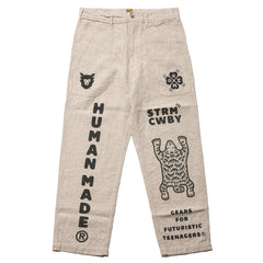 Human Made Deck Pants Beige, Bottoms